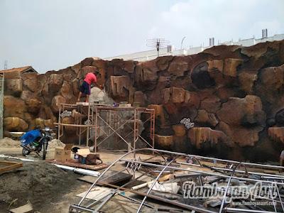 Tukang Taman Surabaya Gambar Desain Relief Tebing