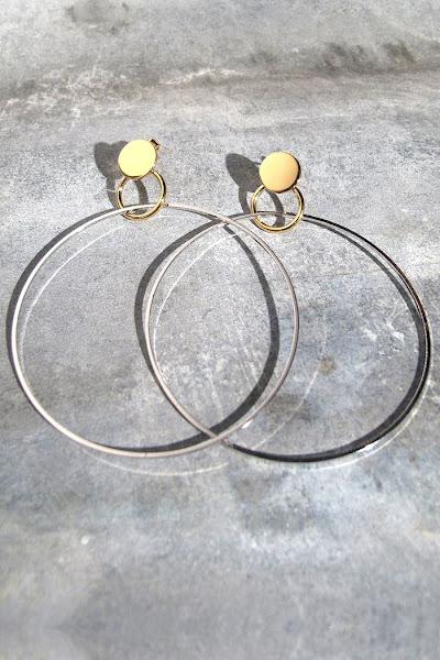 Créoles XL Viveka Bergstrom bijoux