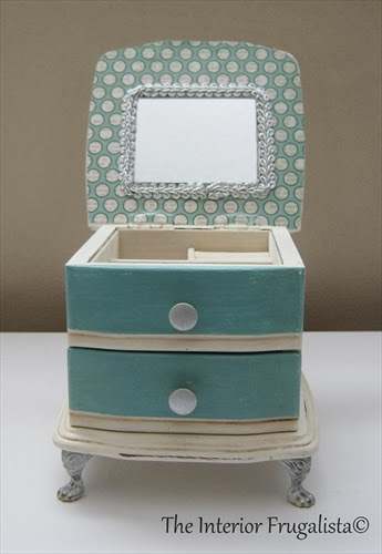 Thrift store jewelry box AFTER Photo 2