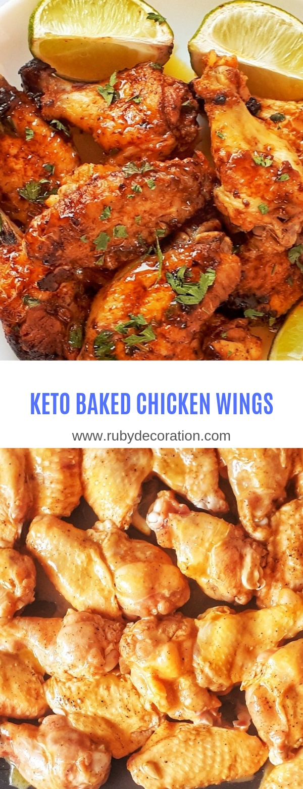 Keto Baked Chicken Wings - Sweet & Spicy