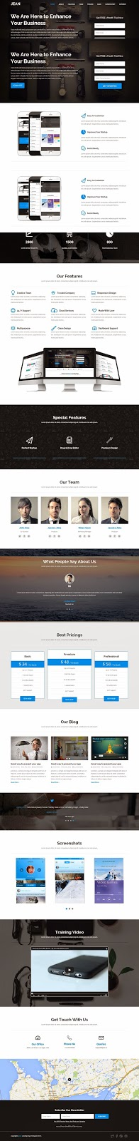 Best Startup Landing Page Template