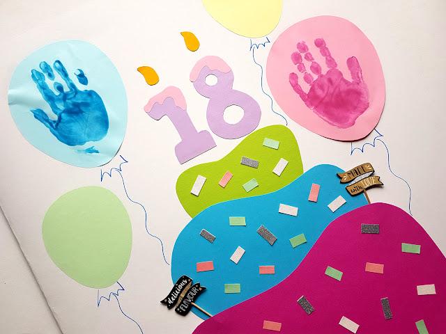 kartka na osiemnaste urodziny - kartka na osiemnastkę - życzenia na osiemnastkę - diy dla dzieci - kids diy -children crafts - prace plastyczne dla dzieci - kreatywnie z dzieckiem