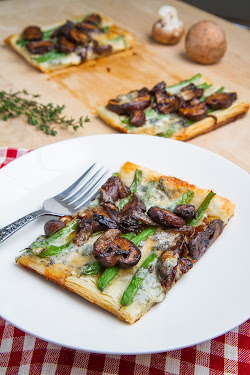 Green Bean, Mushroom and Caramelized Onion Tart