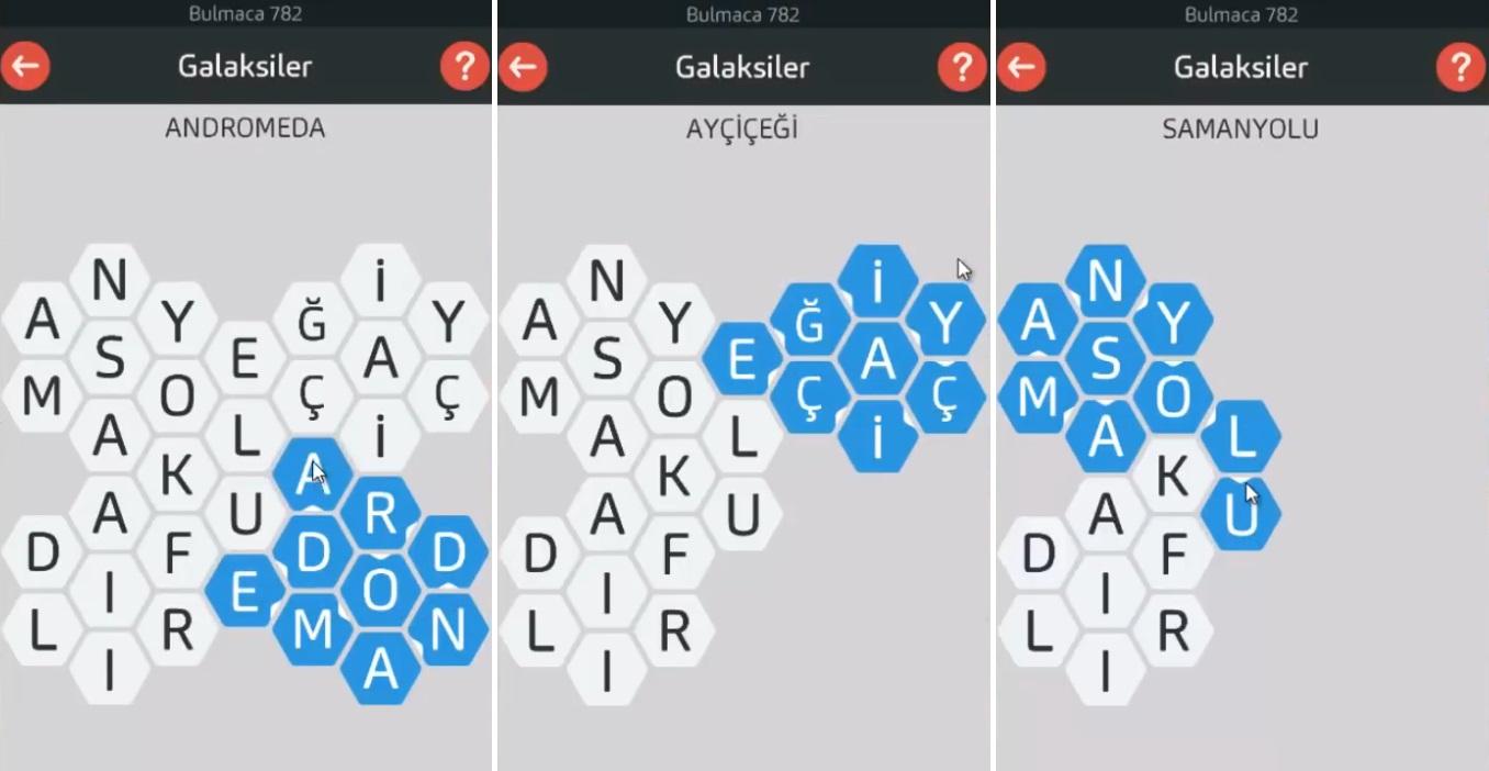 A Word Kelime Oyununun Tüm Cevapları