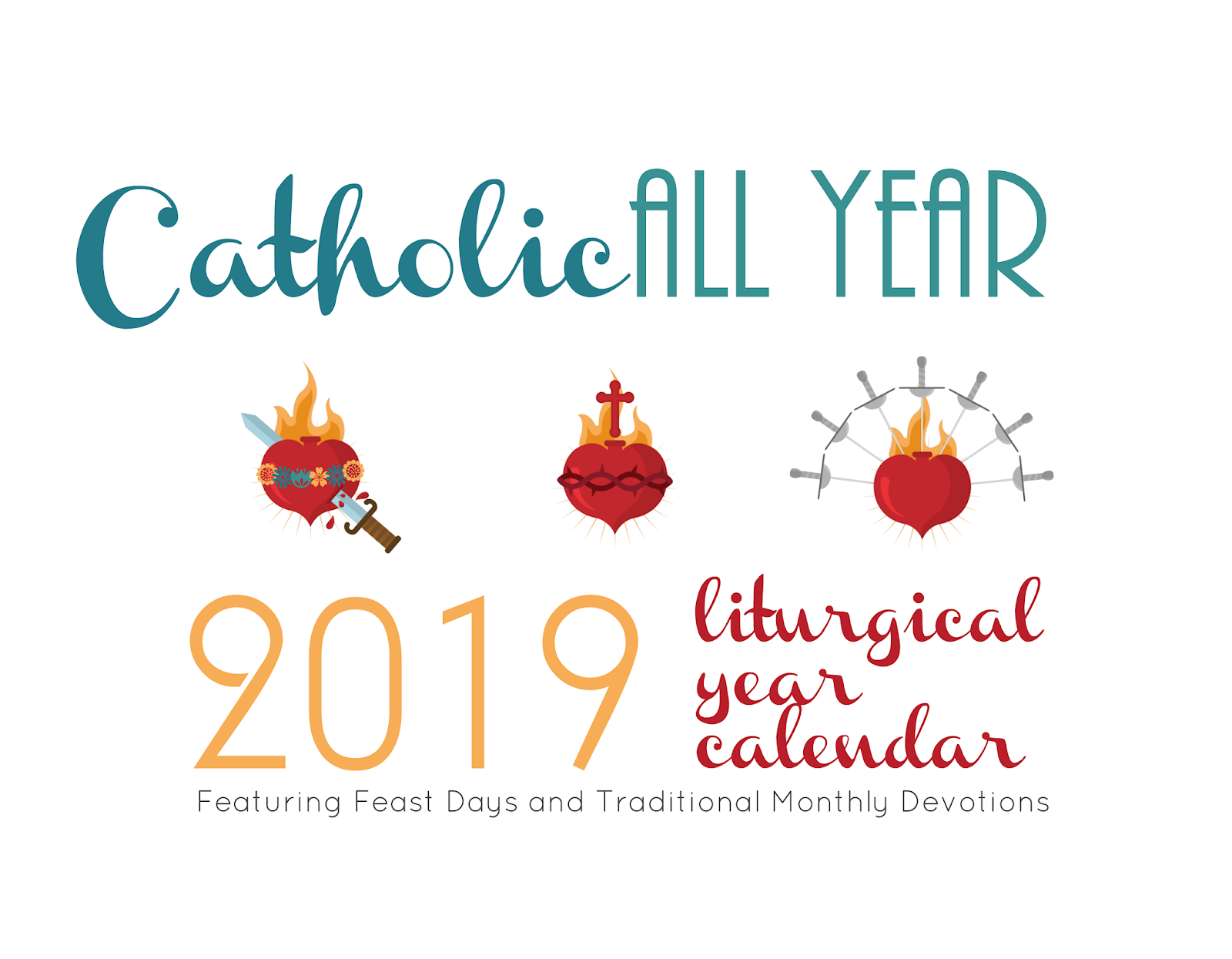 and my 2019 liturgical year wall calendars are now available in two designs you can order them here