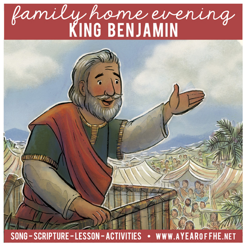 What Youll Need Scriptures GAK 307 GAB 74 King Benjamin Addresses His People A Photo Of Thomas S Monson Coloring Tools Scissors Sheet Plain Or
