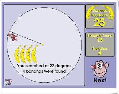 Banana hunt Juego de estimación de ángulos