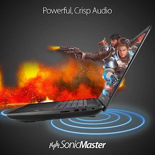 Asus rog Strix GL70VI Powerful audio