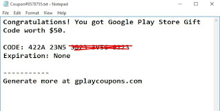 Kupon Google Play Gift Card
