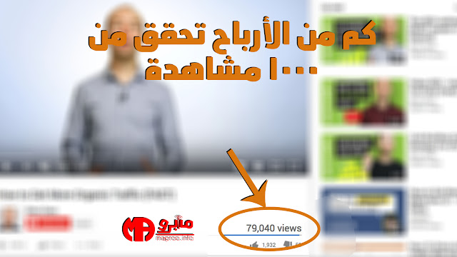 كم من الأرباح تحقق من 1000 مشاهدة في اليوتيوب