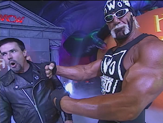 WCW Halloween Havoc 1998 - With Eric Bischoff, Hulk Hogan boasts about tonight's match with Warrior