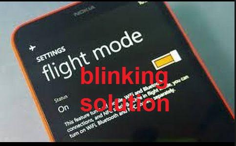 Nokia Lumia 520 and lumia 630 Flight mode Solution