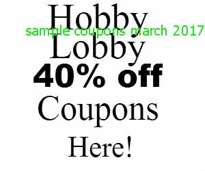 Hobby Lobby coupons march