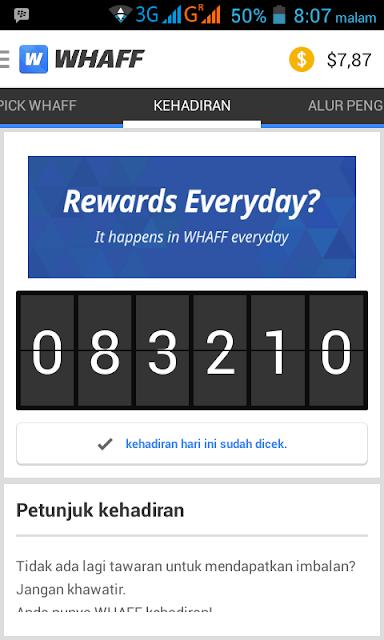 Bagas Pramudita penghasilan 291 juta Rangking 1 dari Aplikasi Android Whaff Reward , Apa itu Whaff Reward ?