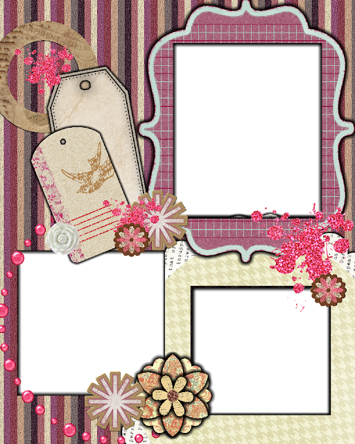 Sweetly scrapped free scrapbook layout template for Templates for scrapbooking to print