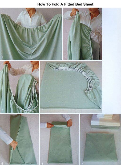 How to fold bed sheets properly