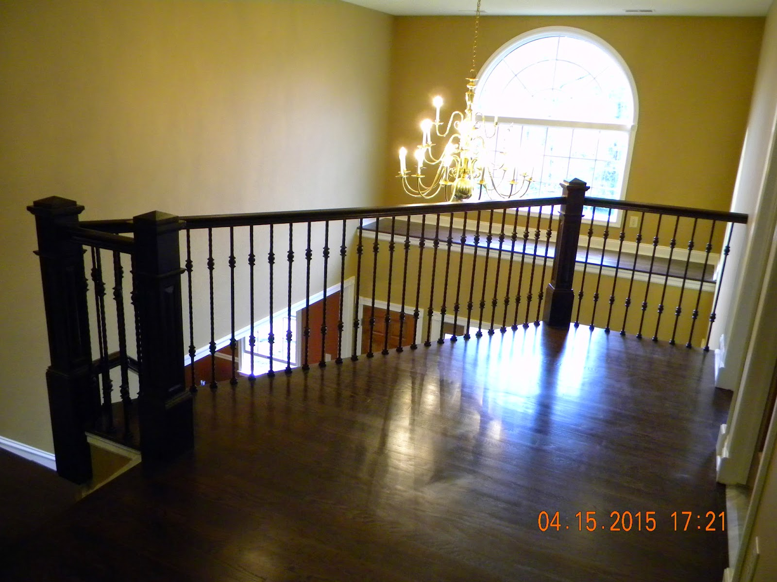 Wood Stairs And Rails And Iron Balusters April 2015