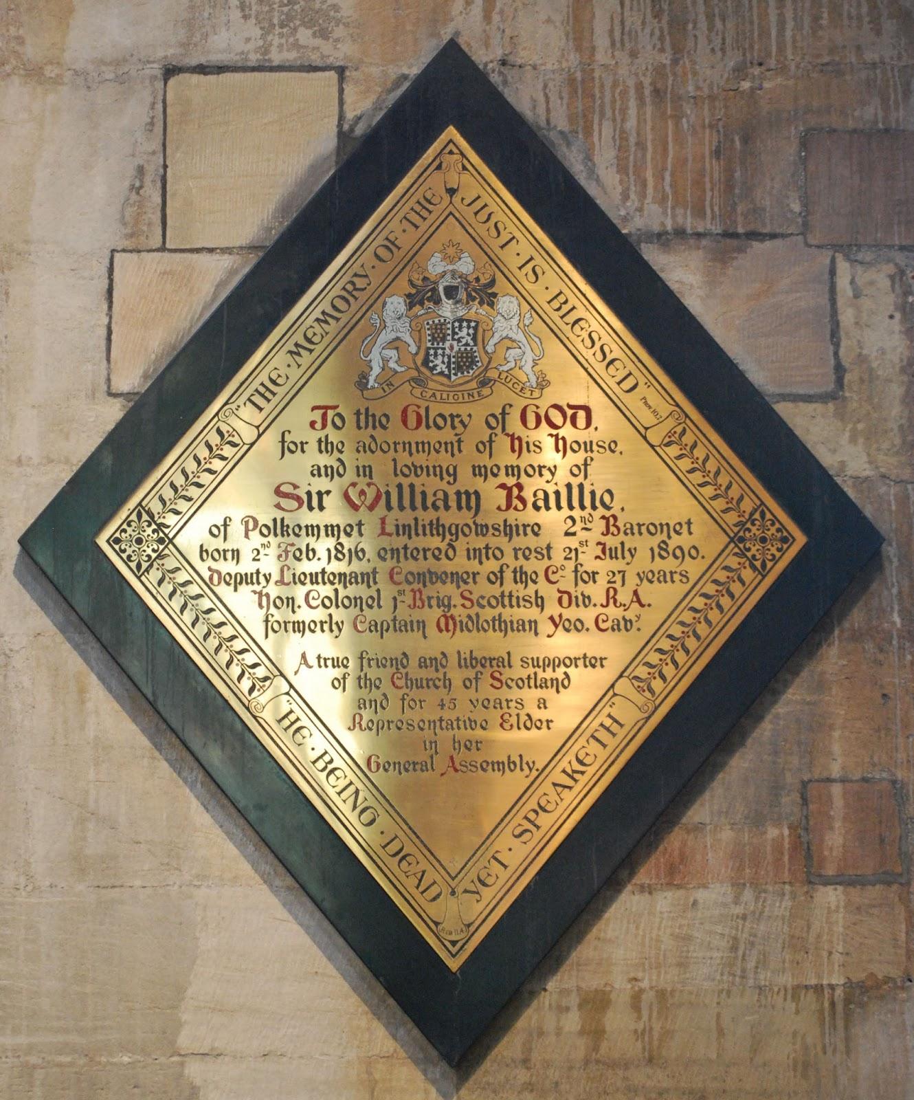 Heraldry: Brass Heraldic Memorials to Two Members of a Family