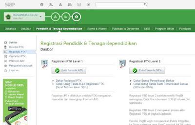 Registrasi PTK Baru