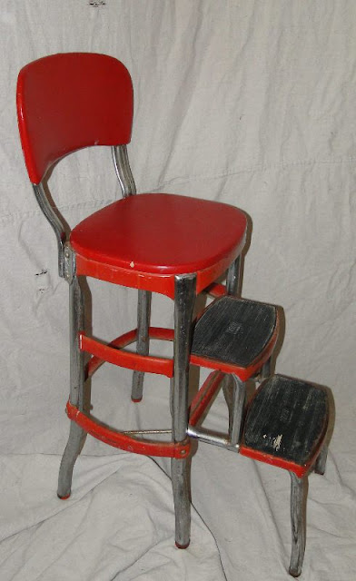 Ms Funky Junk 1950 S Step Stool Chair 69
