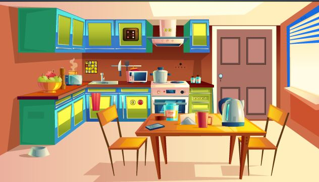 Play GenieFunGames Kitchen Door Escape 4