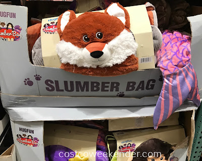 Hugfun Slumber Bag: fox, dog, monkey, mermaid