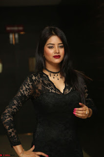Actress Monica in spicy transparent Black Top at O Pilla Nee Valla Movie Audio Launch Feb 2017 131.JPG