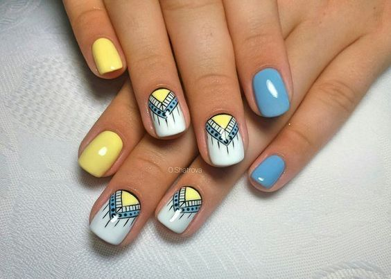 Impressive Nail Art In Yellow Shades