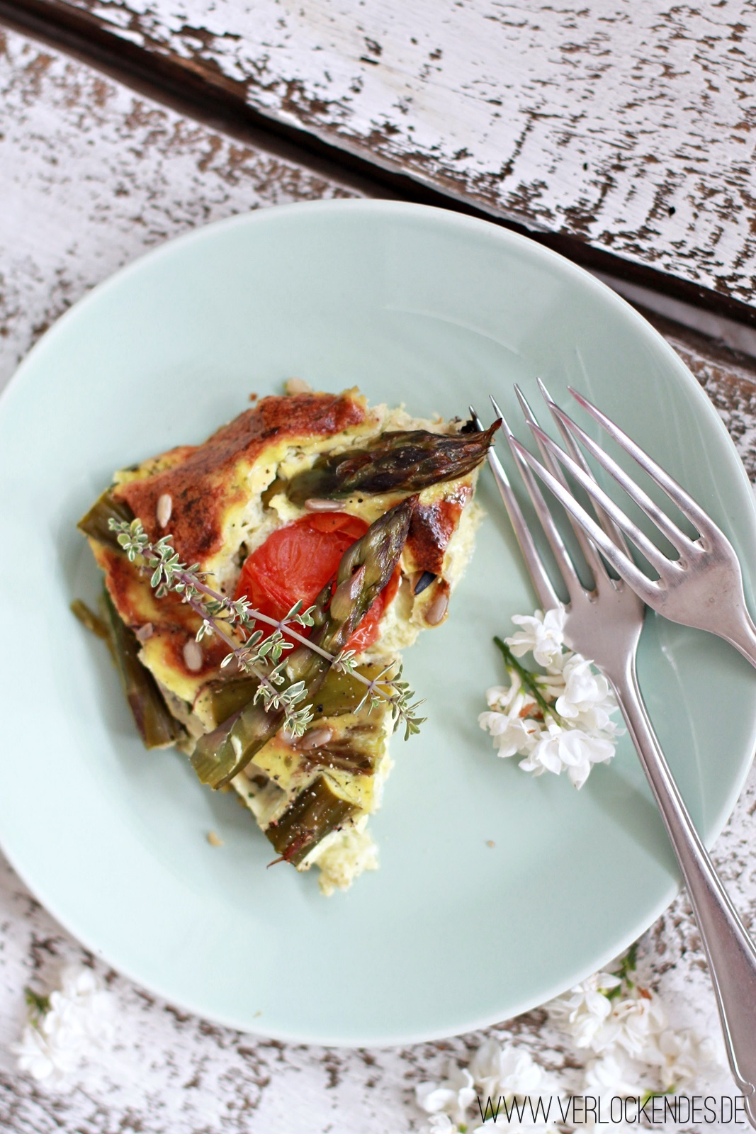 low carb Spargel Quiche