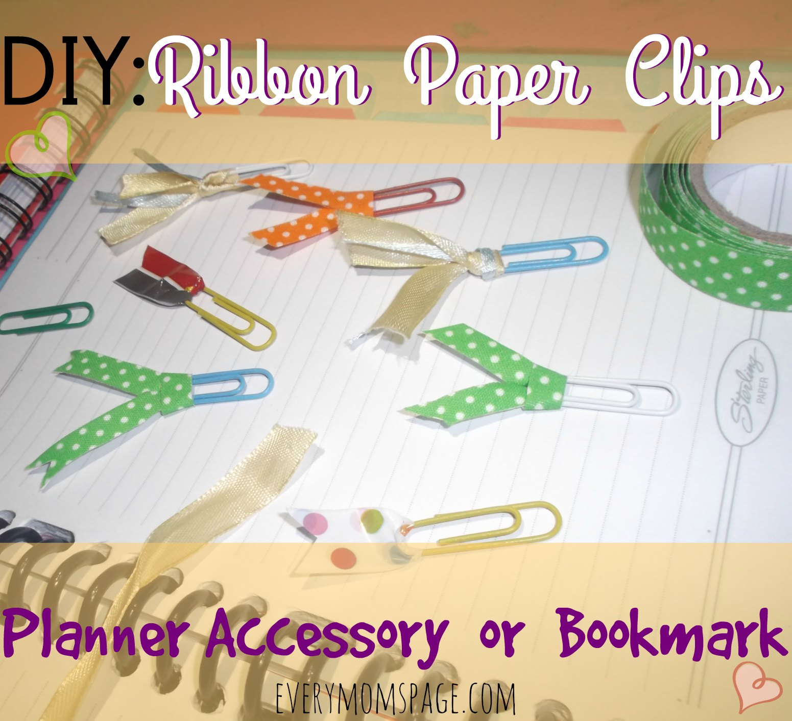 DIY: Ribbon Paper Clips