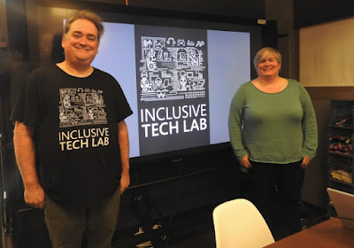 Microsoft Inclusive Tech Lab. Bryce and Evelyn.