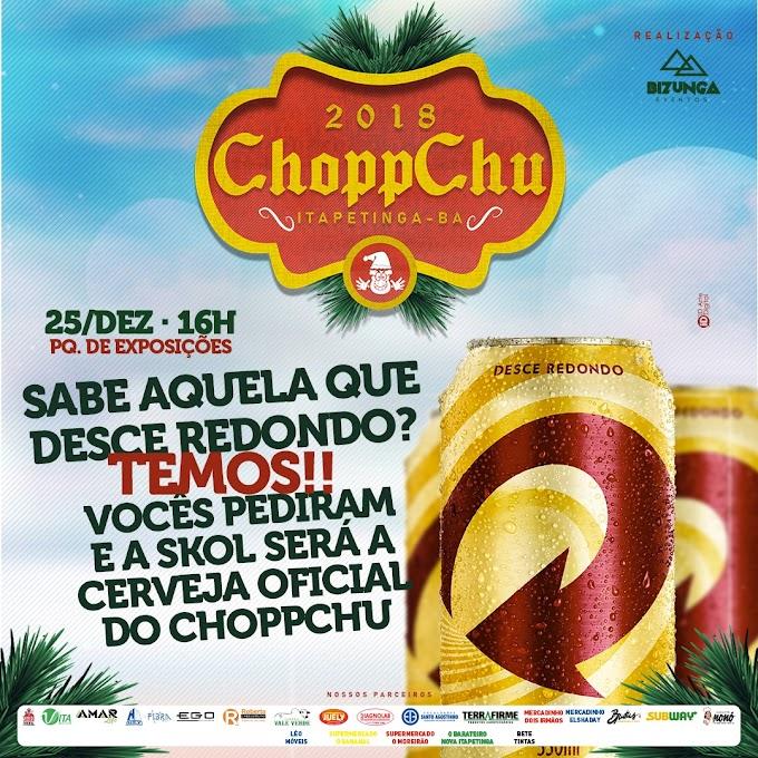 DIA 25, EM ITAPETINGA | Chopp Chu fecha parceria com Skol; confira as outras atrações