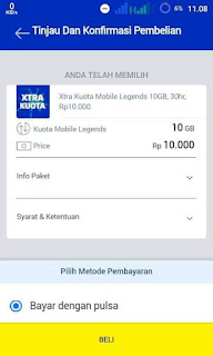 Cara Beli Kuota Mobile Legends XL 10GB Terbaru 2020