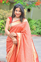 Sakshi Agarwal  in Orange Saree at Inauguration of Handloom And Handicraft exhibition ~  Exclusive 15.JPG