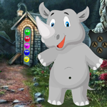 Games4King Rhinoceros Rescue Walkthrough