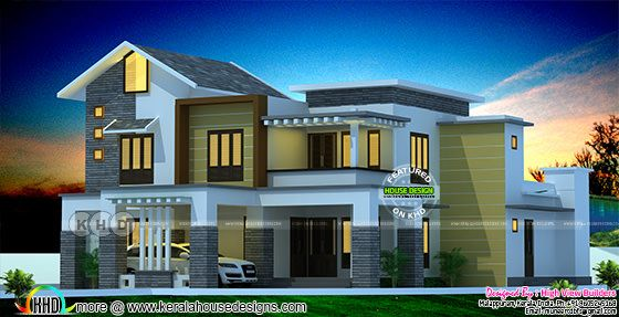 Beautiful modern style 4 bedroom mixed roof home