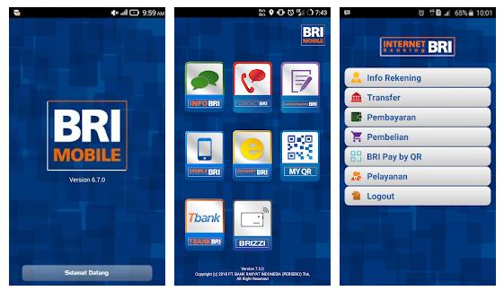 sms banking bri dan bri mobile