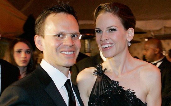 Actor Robin Will...Hilary Swank Marriage
