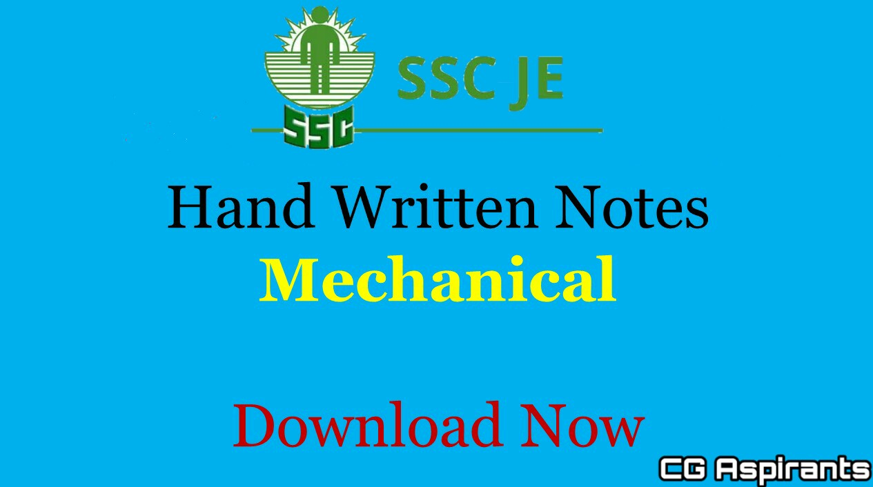 Download Ssc Je Mechanical Engineering Handwritten Notes Pdf Cg Aspirants