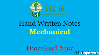 SSC JE Mechanical Engineering Notes Pdf