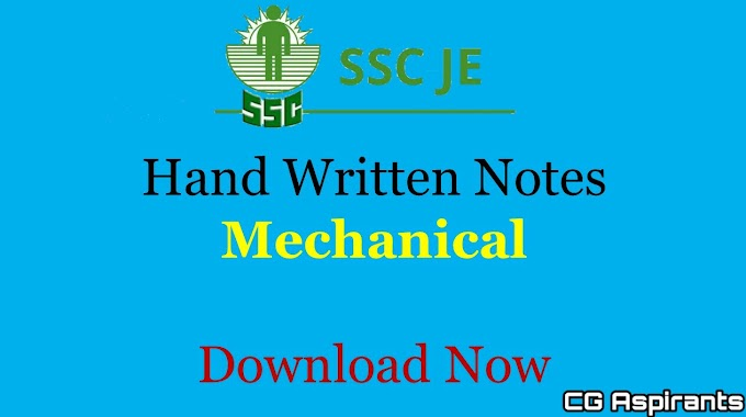 Download SSC JE Mechanical Engineering Handwritten Notes Pdf