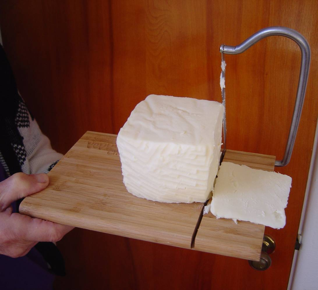 Armour's cutting board and cheese