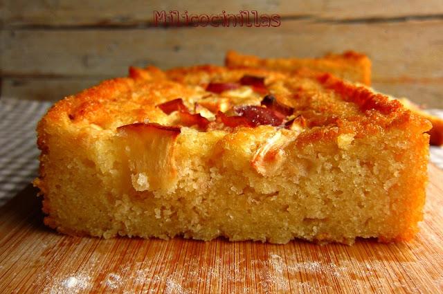 Tarta de manzanas sin huevo sin gluten y sin lactosa