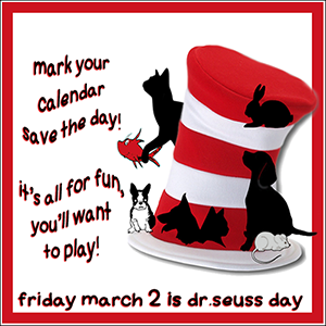 DR SEUSS DAY BADGE