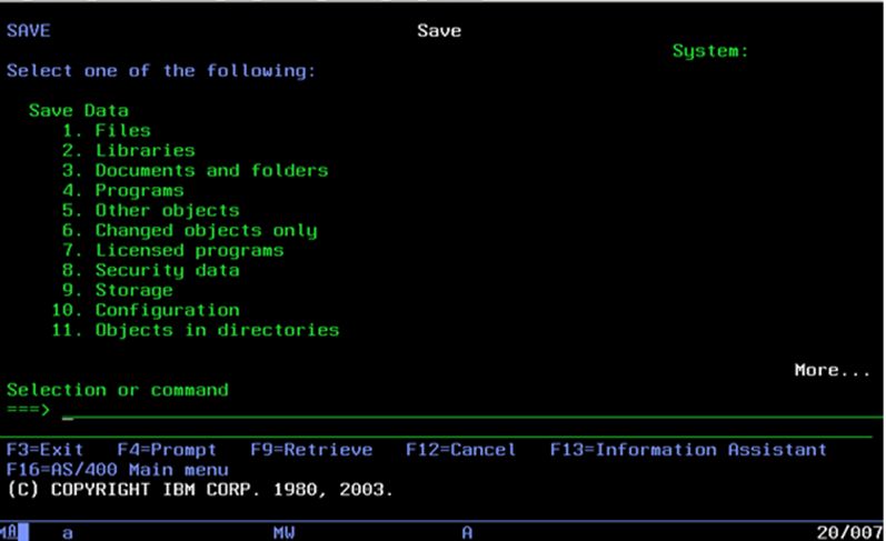 cheap for discount 176c4 2d5c5 From command line enter command GO SAVE.