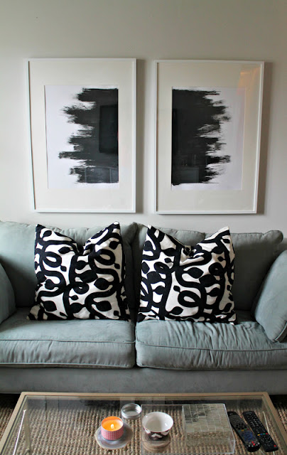 DIY knock-off West Elm abstract art - Shannon Claire