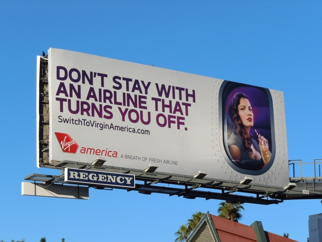 Virgin America Don't stay billboard