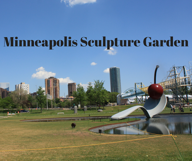 Wandering through sculptures at the Minneapolis Sculpture Garden