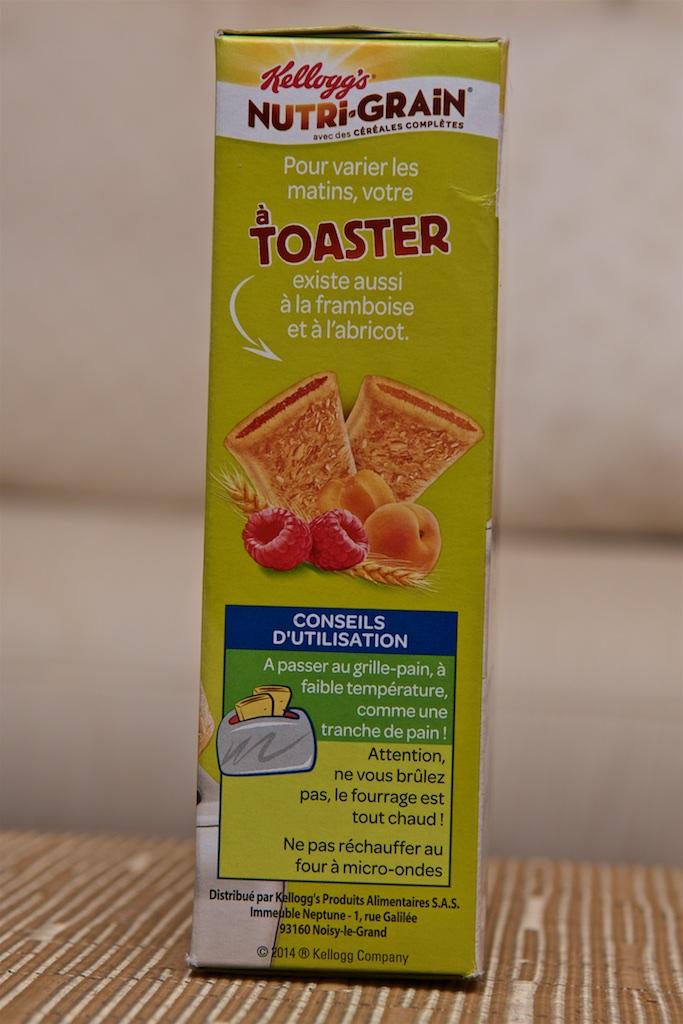 Nutri-grain à Toaster Chocolat (6x40g) par Kellogg's