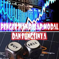 Pengertian Pasar Modal dan Fungsi Pasar Modal